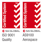 Certified System - ISO 9001 and AS9100